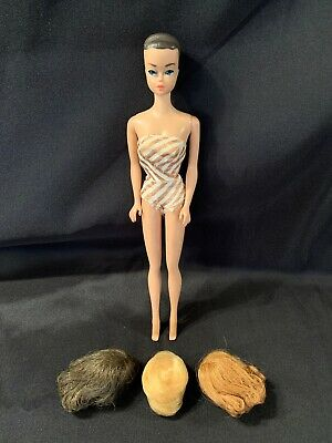 VTG 1962 Midge 1958 Barbie By Mattel Inc Patented FASHION QUEEN DOLL W/3 Wigs