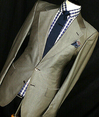 Luxury Mens Ysl Rive Gauche Tom Ford Collection Tonik Grey Suit 42R W36 X L32