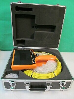 40M (131FT) Pipe & Wall Video Snake Inspection System Pipeline Drain DVR monitor