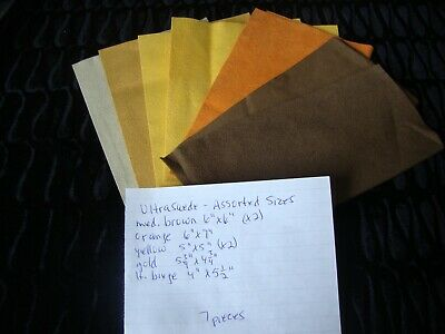Teddy Bear Making Supplies - Ultrasuede Pieces - 5 Colours- 7 Pieces -Asst Sizes