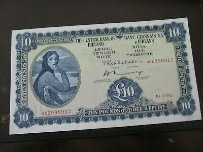 1975 Bank of Ireland Lady Lavery 10 pound  nice condition