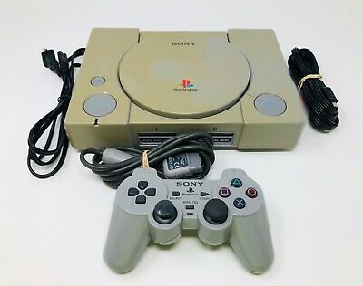 Sony PlayStation 1 PS1 Gray Game Console System Bundle SCPH-5501 Tested