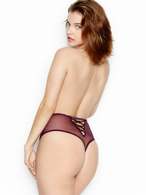 Victoria's Secret Dream Angels sheer mesh thong panties S violet nwt $34 retail