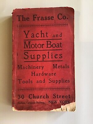 Rare Yacht & Motor Supplies Catalogue 1910