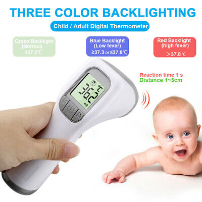 Digital No Touch Infrared Body Forehead Thermometer Baby Adult Temperature Gun