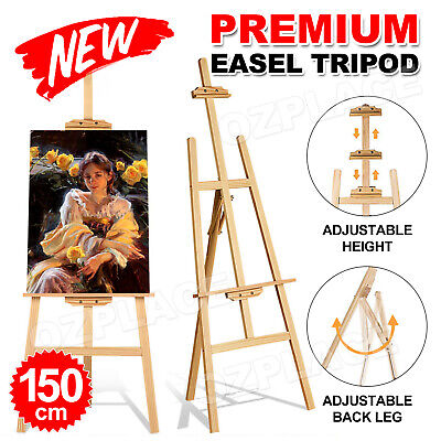 NEW Pine Wood Easel Artist Art Display Painting Shop Tripod Stand Wedding 150cm