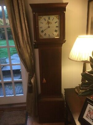 Antique Vintage Longcase  English Grandfather Clock.