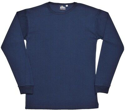 730 Navy Thermal Ls Tshirt Large B123NARL Portwest Genuine Top Quality Product