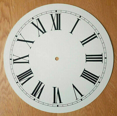 NEW - 12 Inch Clock Dial Face - Off White Antique Finish 305mm Roman Numerals