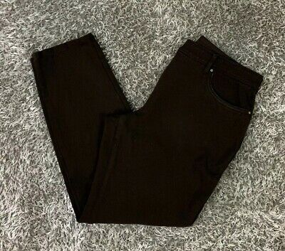 Womens So Slimming by Chicos  Pants Dark Brown Knit Stretch Size 1 Short