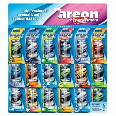 18x Areon Refreshment Liquid / Assortment / Car Air Freshener Long-term Effect