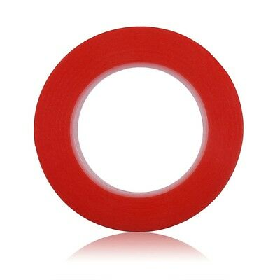5 m Length Double Sided Tape Red Self Adhesive Sticky Super Strong NEW 25 mm
