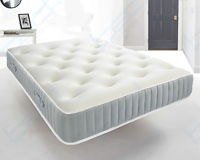 3000 Memory Foam Tufted Pocket Mattress, 3Ft Single 4Ft6 Double 5Ft King Size
