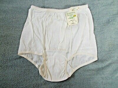 Vintage Reigning Beauty Eiderlon Belk Brief Panties White size 6 Style 500