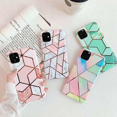 Texture  Soft  Marble  Geometric  For iPhone 11 Pro Max XS XR X 7 8 Plus Case