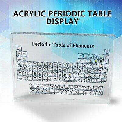 Acrylic Periodic Table Display of 83 Real Elements Teacher Kids Teaching