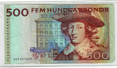 Sweden 500 Kronor ND p-66a circulated