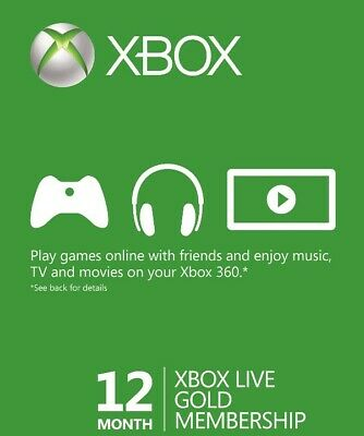 Xbox LIVE 12 Month Gold Membership for Xbox 360 / XBOX ONE 🔥DIGITAL CODE🔥