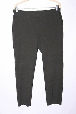 Eileen Fisher Heather Gray Pull On Pants Pockets size M #A388