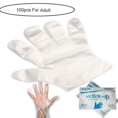 100x Disposable Gloves Powder Free Latex Vinyl Gloves For Work Kitchen Cleaning