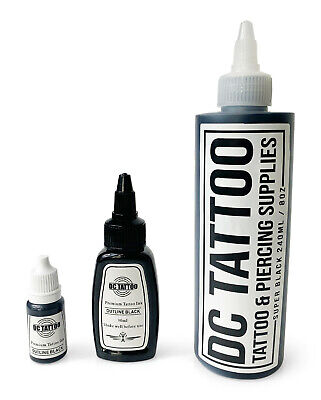 DCTattoo STICK & HAND POKE - Black Tattoo Ink 10ml 30ml 240ml