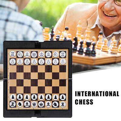 UK Magnetic Folding Chess Board Portable Set High Quality Games Camping Travel