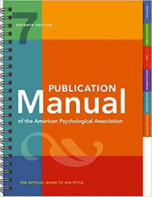 Publication Manual of the American Psychological... SPIRAL-BOUND 2019 by Amer...