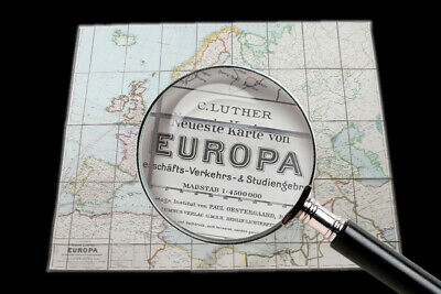 Great Old Europa Map Old Vintage Card Wall Map