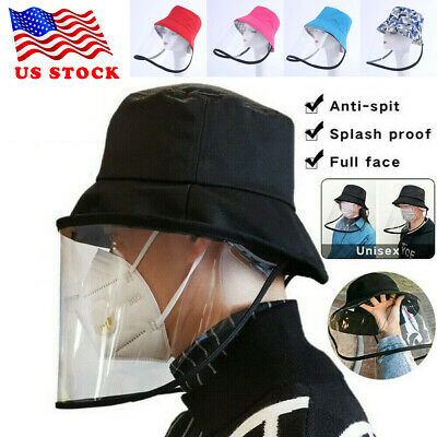 US New Anti-spitting Protective Hat Cover Outdoor Anti- Fisherman Hat Adjustable