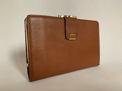 Harness By Lichfield Vintage 1970s Tan All Leather Coin Purse Mini Wallet