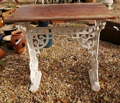 Antique Victorian Cast Iron Table, Coalbrookdale? Garden Table