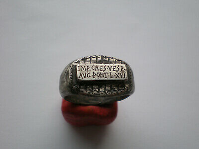 RARE Ancient Roman Legionary Archer SILVER  Ring -Legio XVI