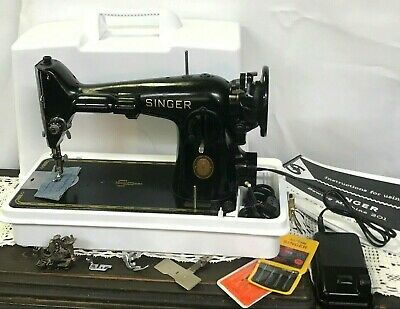 *SERVICED* Direct Drive Heavy Duty Vtg Singer 201-2 Sewing Machine Denim Leather