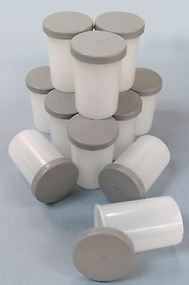 FILM CANS/CANISTERS/CONTAINERS - 35mm Kodak  qty 10. Opaque White with Grey Lids