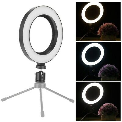 6in 1440-1800LM Dimmable LED Video Live Studio Camera Ring Selfie Fill Light WN