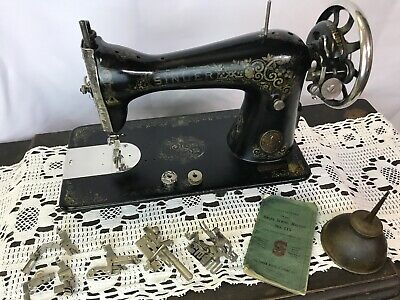 Antique Vtg Singer 115 Treadle Sewing Machine Art Deco Ornate Heavy Duty Leather