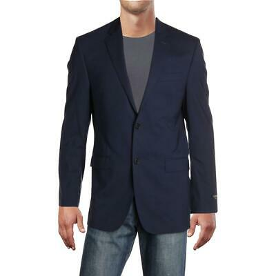 Lauren Ralph Lauren Mens Navy Wool Two-Button Blazer Jacket 40R BHFO 8616