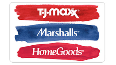 T.J. MAXX, MARSHALLS, HOMEGOODS (merch credit - in store only) - $193.00