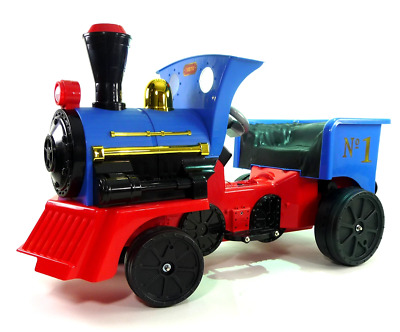 Ride on Kids Electric 12v Battery Powered Play Train Engine and Pedal Coal Truck