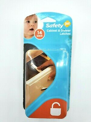 Safety First Pack of 14 Cabinet and Drawer Latches Baby Toddler Protection Proof