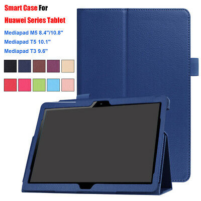 Smart Case For Huawei Media Pad M5 8.4 T3 T5 10 Protective Tablet leather Cover