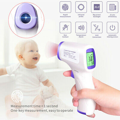No-contact Touch IR Infrared Digital LCD Digital Forehead Thermometer Baby Adult