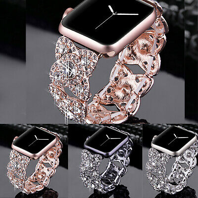 38/42/40/44mm Bling Diamond Band for Apple Watch Series 5 4 3 2 1 iWatch Strap