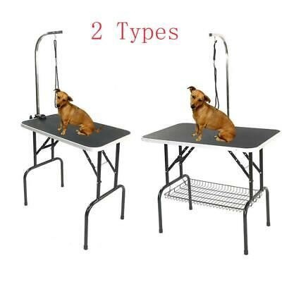 """Adjustable 32""""/36""""/48"""" Foldable Pet Dog Cat Summer Grooming Table Tray 4 Types"""
