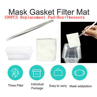 100PCS Gasket Face Pad Filter Activated Carbon Breathing Filters Replacement Pad