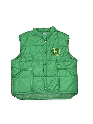 Vintage Swingster John Deere Vest Size Mens XL USA Made Snap Front RARE