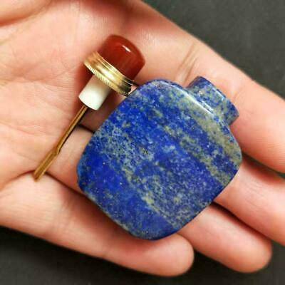 Old Collection Exquisite Pure Natural rare handmade lapis lazuli snuff bottle