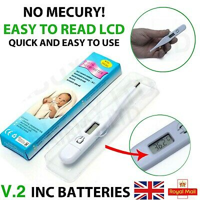 Digital Medical/Family Thermometer Highly Accurate Baby Toddler LCD Tester Adult