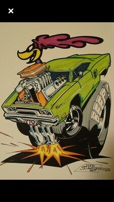(3) Rat Fink Big Daddy Ed Roth Wall Art Your Choice Of (3) Roadrunner,Cuda...or