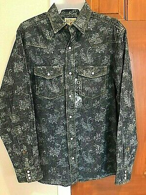 Red Head Brand Co Western pearl snap paisley long sleeve shirt NWT